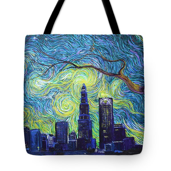 Starry Night Over The Queen City Tote Bag