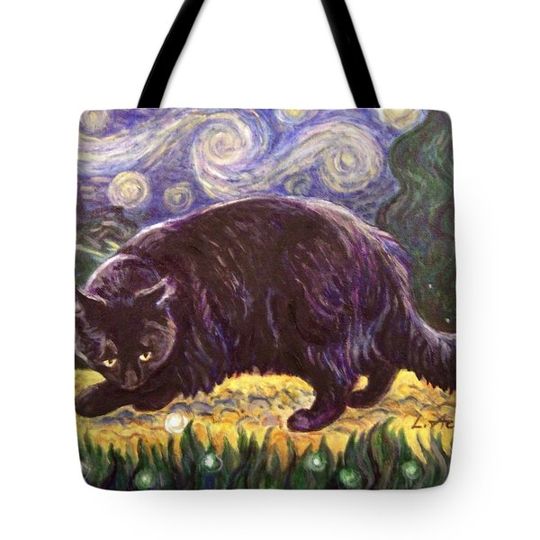 Starry Night Stroll Tote Bag