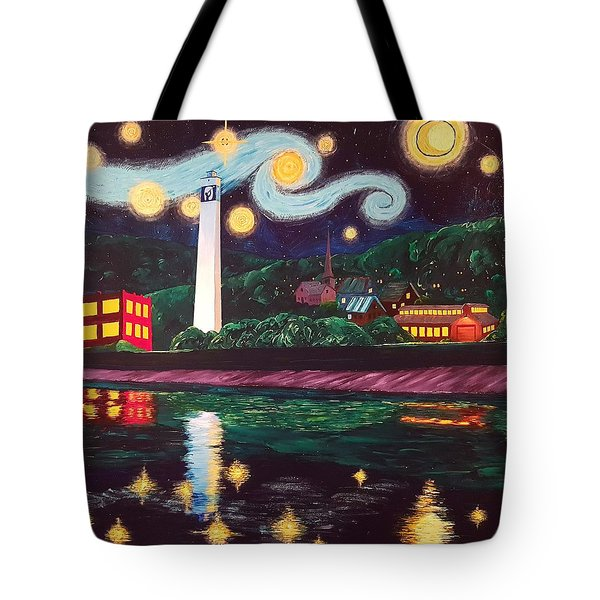 Starry Night With Little Joe Tote Bag