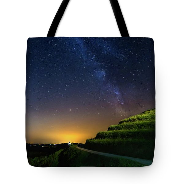 Tote Bag featuring the photograph Starry Sky Above Me by Davor Zerjav