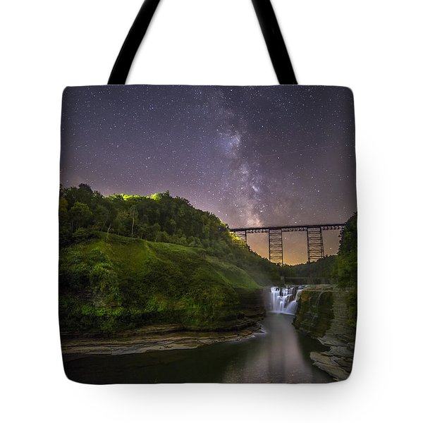 Starry Sky At Letchworth Tote Bag by Mark Papke