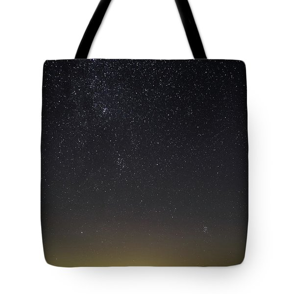 Tote Bag featuring the photograph Starry Sky Over Virginia Farm by Lori Coleman