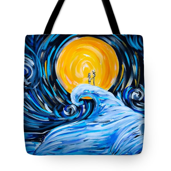 Starry Spiral Hill Night Tote Bag