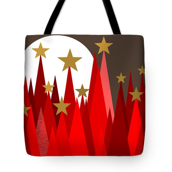 Starry Winter Night Tote Bag
