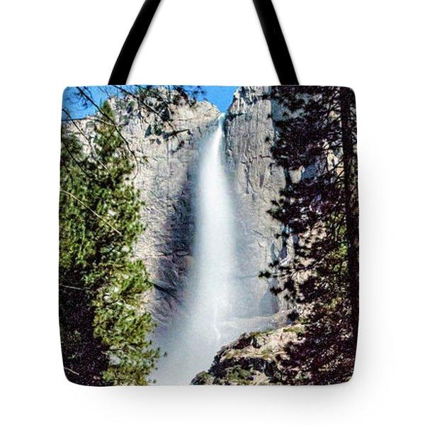 Starry Yosemite Falls Tote Bag