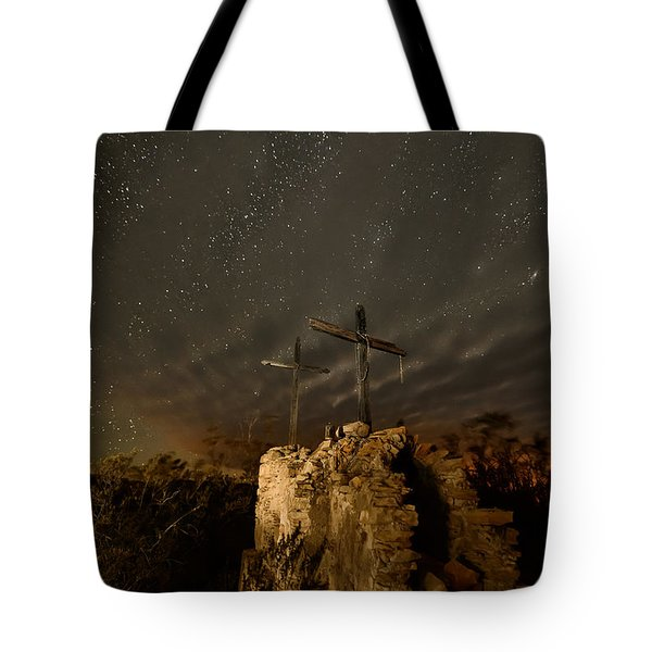 Stars And Crosses Tote Bag