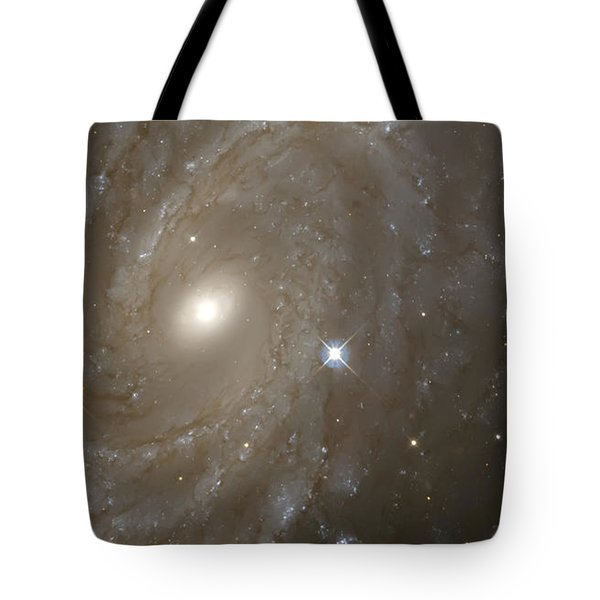 Stars And Spiral Galaxy Tote Bag by Jennifer Rondinelli Reilly - Fine Art Photography