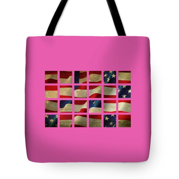 Stars And Stripes And Squares Tote Bag