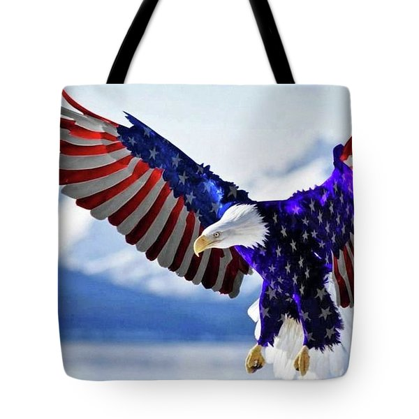Stars And Stripes Forever Tote Bag by James McAdams