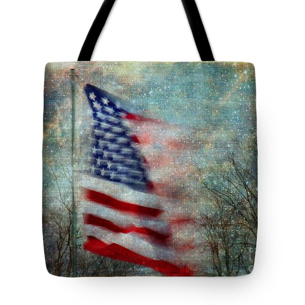 Stars And Stripes American Flag Artistic Liberty Tote Bag by Clare VanderVeen