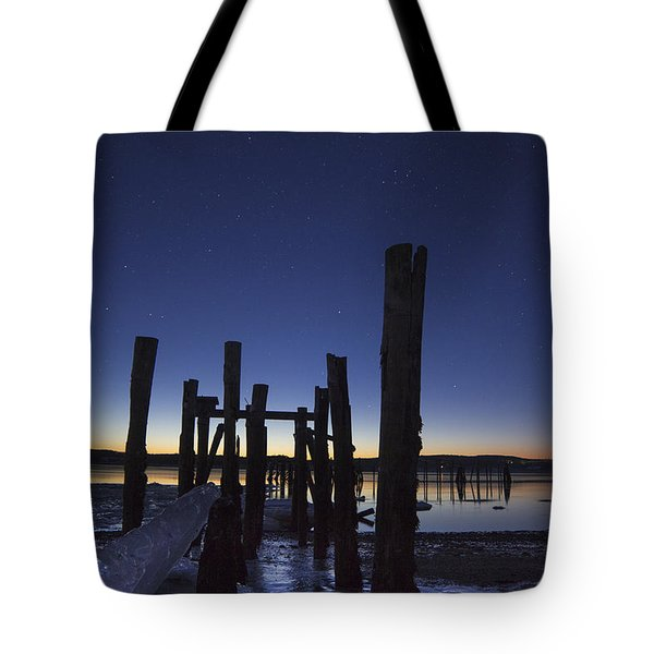 Stars At Sandy Point Sunrise  Tote Bag