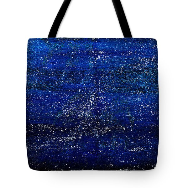 One Star Painting- A Galaxy Of Them Tote Bag by Renee Anderson