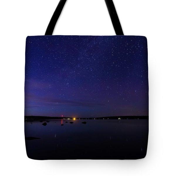 Stars Over Branch Lake Tote Bag