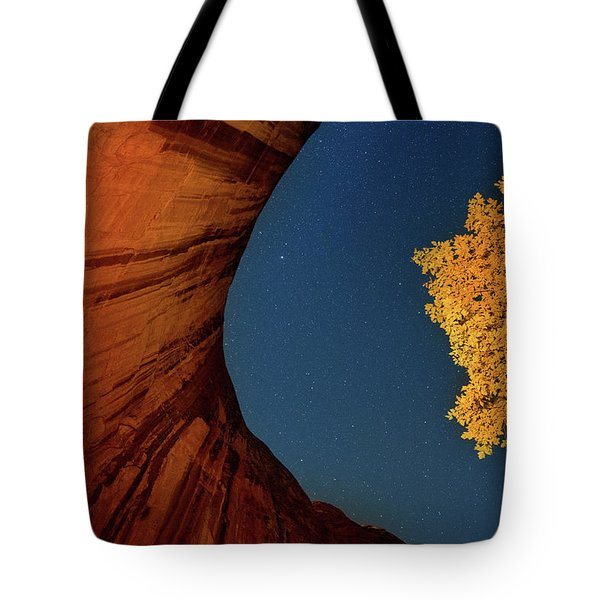 Stars Over Canyon Tote Bag