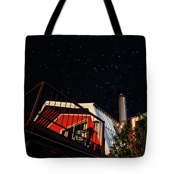 Stars Over Gila Cottage Tote Bag