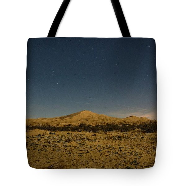 Stars Over Kelso Dunes Tote Bag