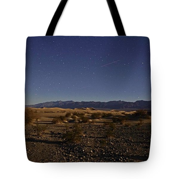 Stars Over The Mesquite Dunes Tote Bag by Michael Courtney