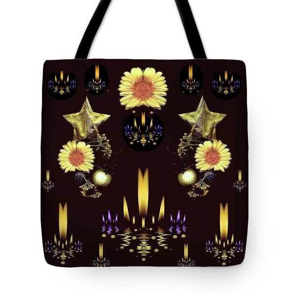Stars Over The Sacred Sea Of Candles Tote Bag