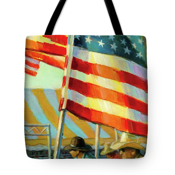 Stars, Stripes, And Cowboys Forever Tote Bag