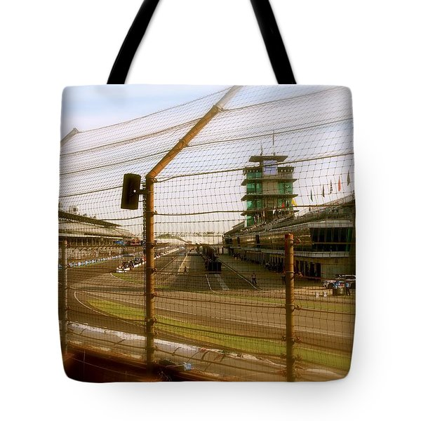 Start Finish Indianapolis Motor Speedway Tote Bag