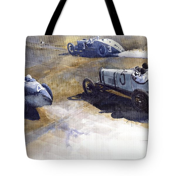 Start Italian Gp 1923 Monza  Tote Bag by Yuriy  Shevchuk