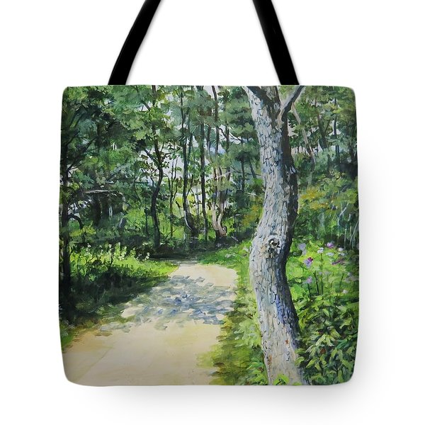 Start Of The Trail Tote Bag