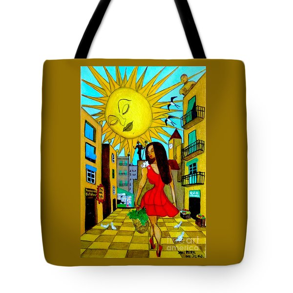 Tote Bag featuring the painting Starting A New Day by Don Pedro De Gracia