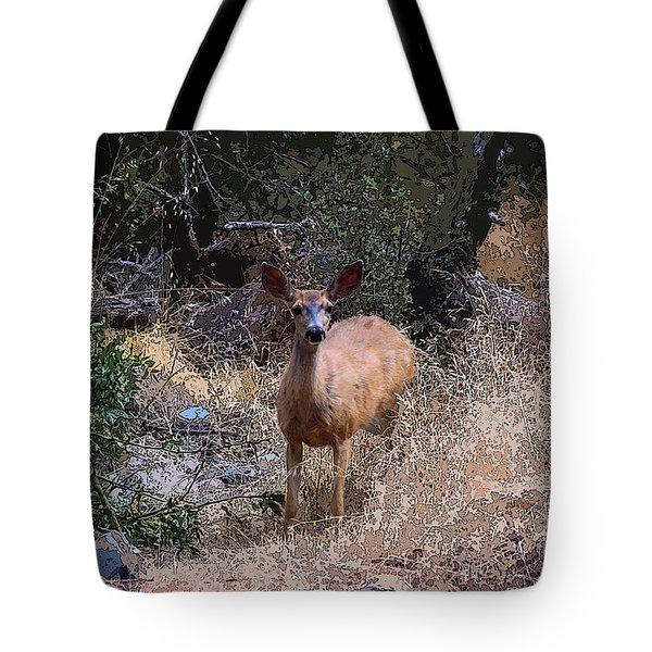 Startled Deer Tote Bag