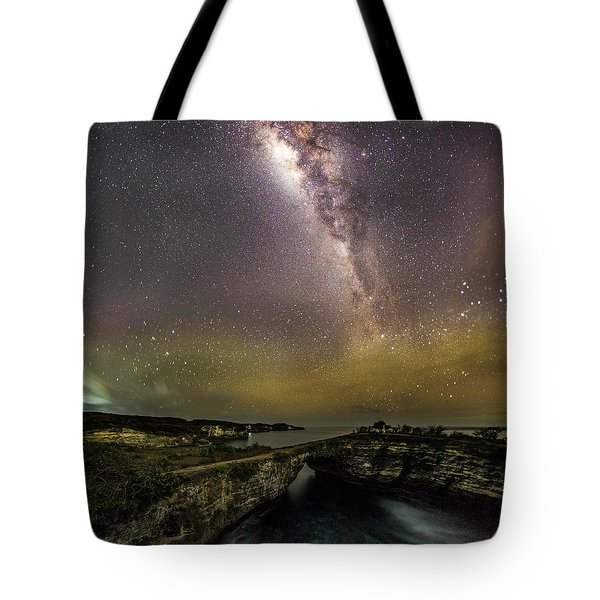 Tote Bag featuring the photograph stary night in Broken beach by Pradeep Raja Prints