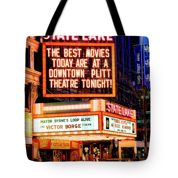 State-lake Theater Tote Bag
