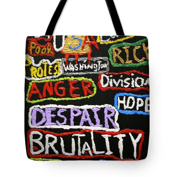 State Of America Tote Bag by Darrell Black