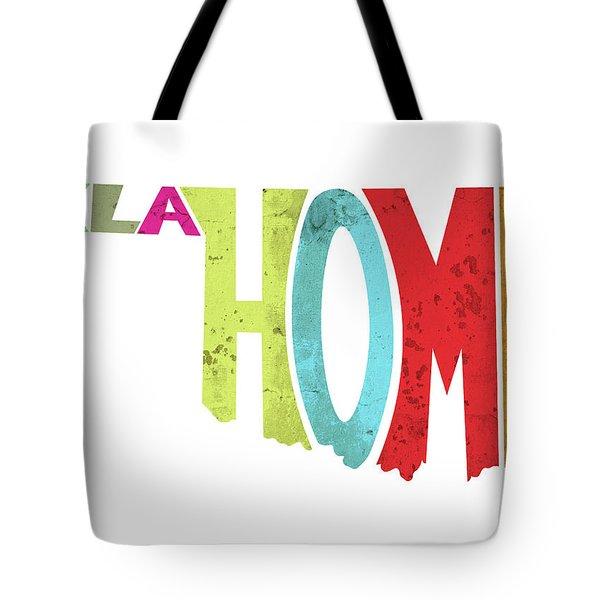 State Of Oklahoma Typography Tote Bag
