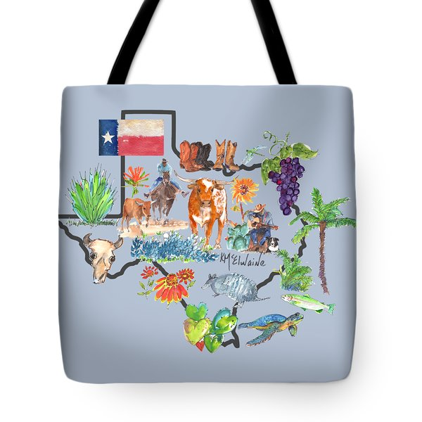 State Of Texas As I Know It Tote Bag