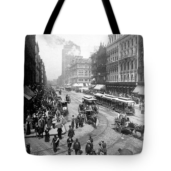 State Street - Chicago Illinois - C 1893 Tote Bag by International  Images