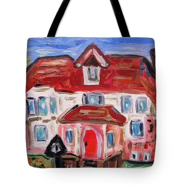 Stately City House Tote Bag by Mary Carol Williams