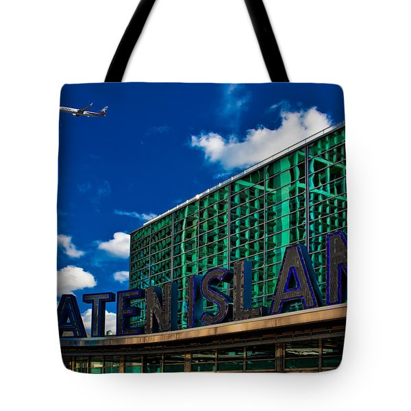 Staten Island Ferry Terminal Tote Bag by Chris Lord