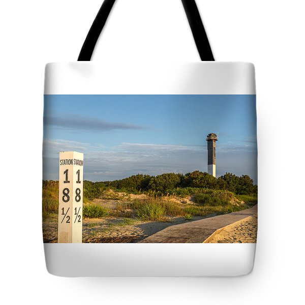 Station 18 1/2 On Sullivan's Island Tote Bag