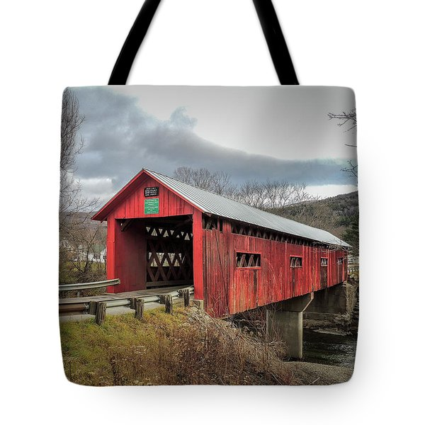 Station Covered Bridge Tote Bag