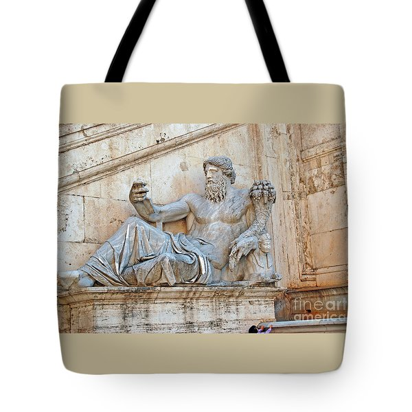 Statue Capitoline Hill Of Rome Italy Tote Bag by Eva Kaufman