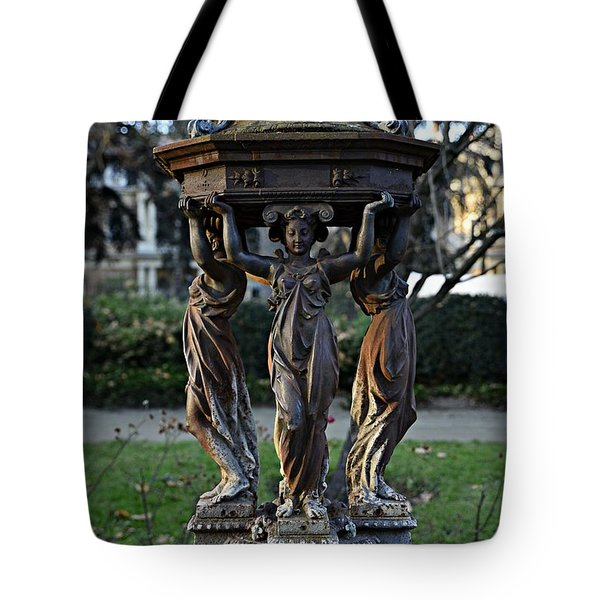 Tote Bag featuring the photograph Statue by Cendrine Marrouat