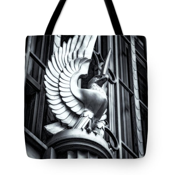 Statue In Monochrome Hdr Tote Bag by Michael White
