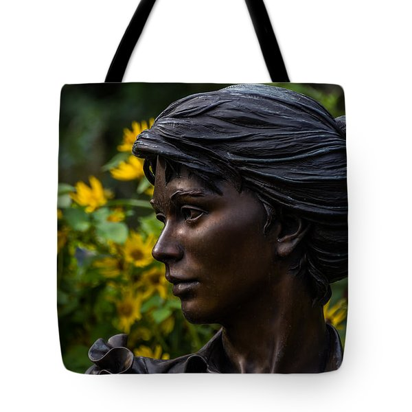 Tote Bag featuring the photograph Statue by Jay Stockhaus
