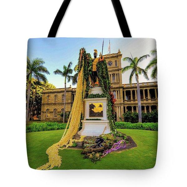 Statue Of, King Kamehameha The Great Tote Bag