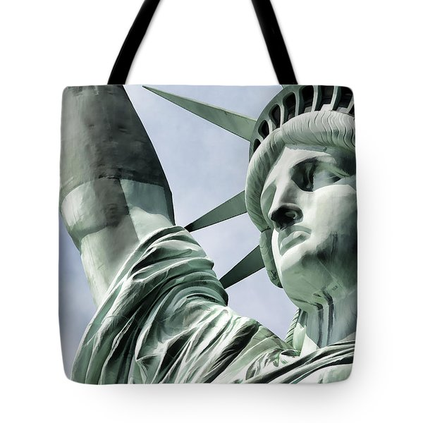 Statue Of Liberty 2 Tote Bag by Lanjee Chee