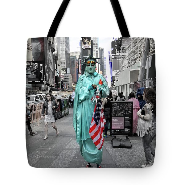 Statue Of Liberty Guy Tote Bag