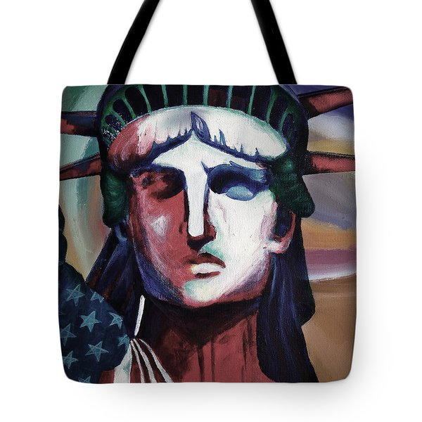 Statue Of Liberty Hb5t Tote Bag by Gull G