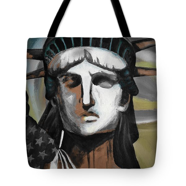 statue of liberty KJ78 Tote Bag by Gull G