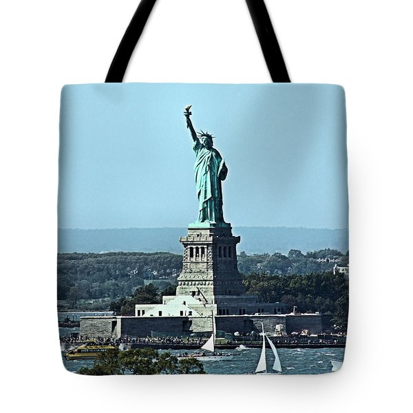 Tote Bag featuring the photograph Statue Of Liberty by Kristin Elmquist