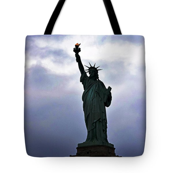 Statue Of Liberty May 2016 Tote Bag by Sandy Taylor