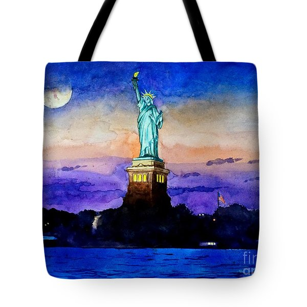 Statue Of Liberty New York Tote Bag